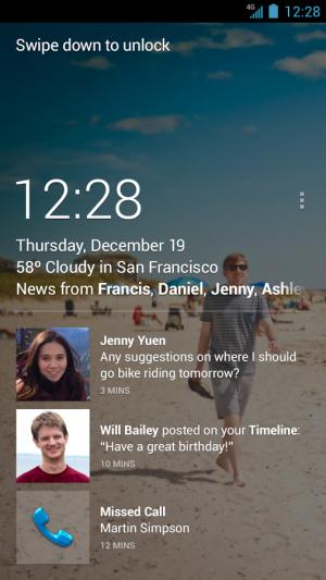 Facebook Home screenshot from Google Play.
