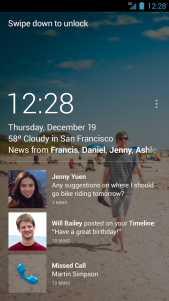 Facebook Home screenshot from Google Play.