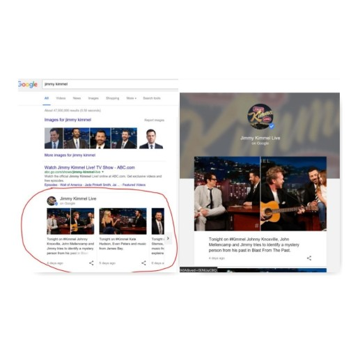 Jimmy Kimmel search collage